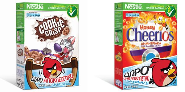 Δώρα Angry Birds™ στα παιδικά δημητριακά της Nestlé!
