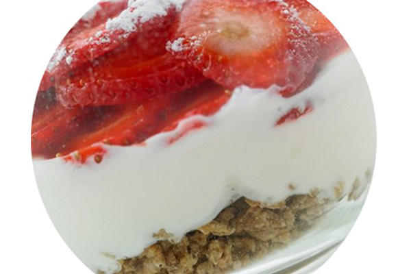 Ατομικά cheesecake φράουλα