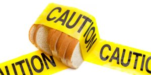 Gluten dietary warning
