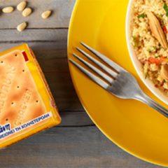 Σαλάτα με κινόα, πιπεριές Φλωρίνης και Cream Crackers ΠΑΠΑΔΟΠΟΥΛΟΥ με β-γλυκάνη
